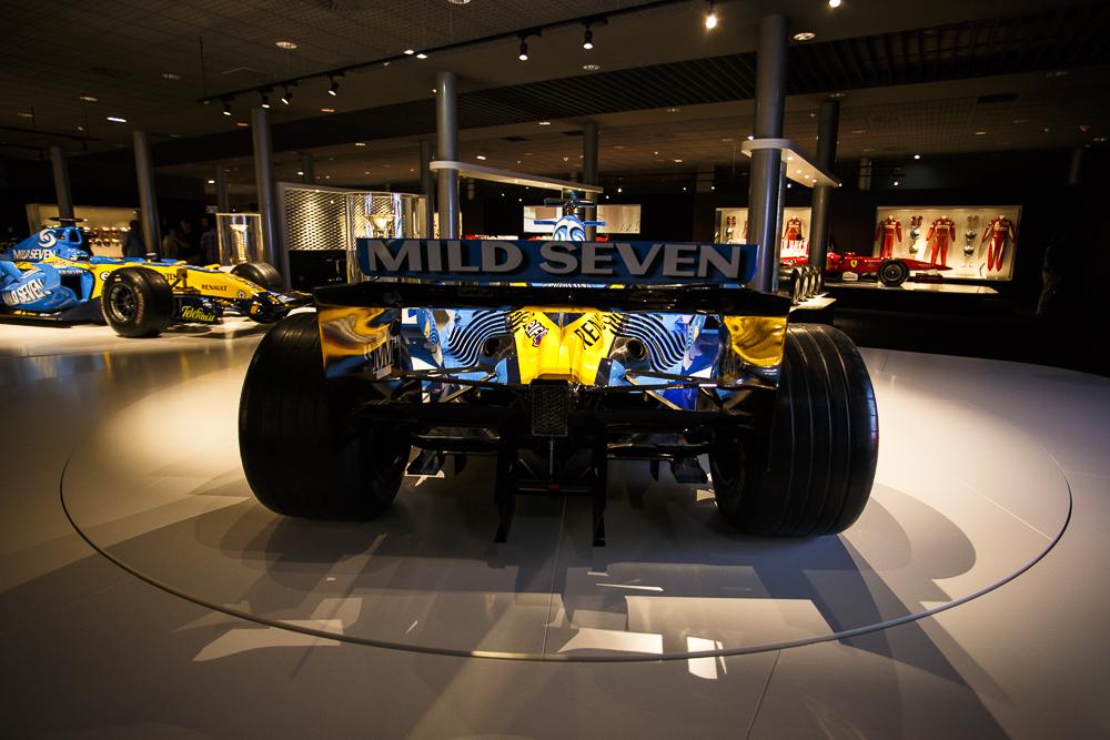 Los dos Renault del Bicampeonato del Mundo de F1.