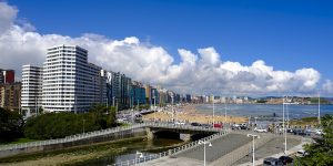 Vista inmejorable de Gijón desde la Terraza.