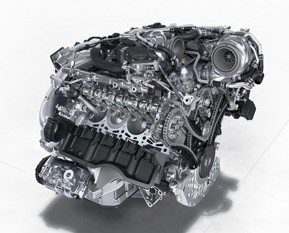 Un motor diesel de un Panamera. Una verdadera joya de la mecánica.