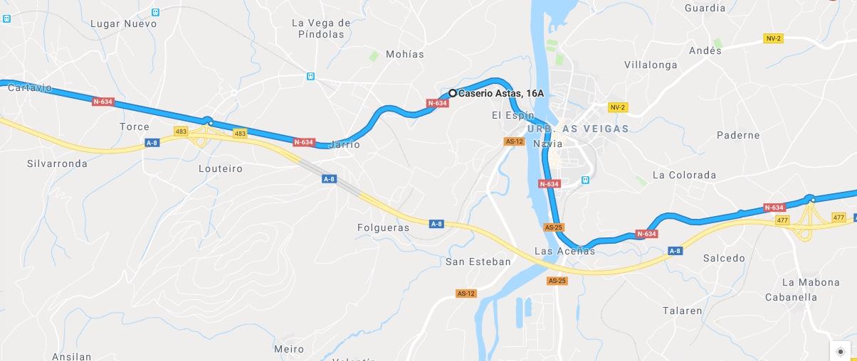 Ruta Princesa, Segundo Sector, 6: Continuamos por la N634 en dirección Galicia y alcanzamos Navia.