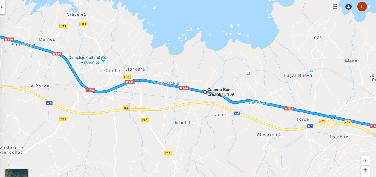 Ruta Princesa, Segundo Sector, 7: Continuamos por la N634 desde Navia en dirección Galicia.