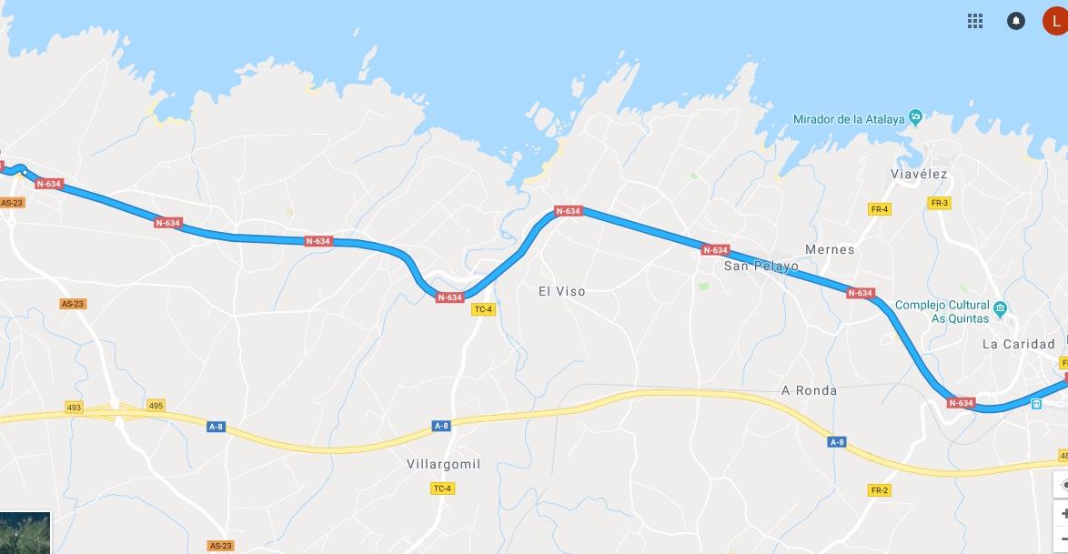 Ruta Princesa, Segundo Sector, 8: Continuamos por la N634 en dirección Galicia.