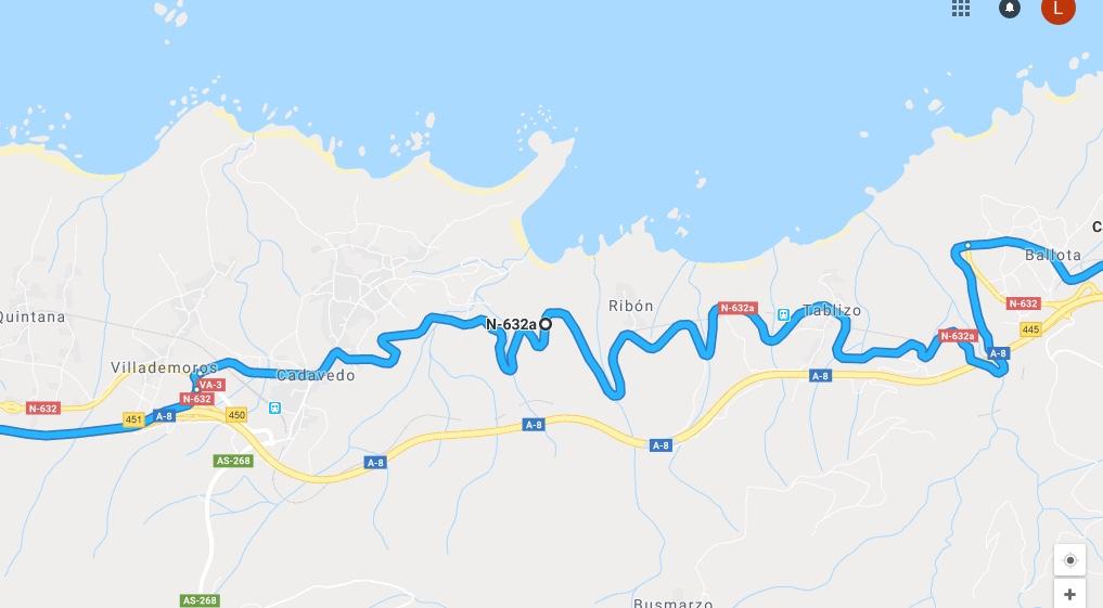 Ruta Princesa, Segundo Sector, 2: Continuamos por la N632a hasta llegar a Villademoros.