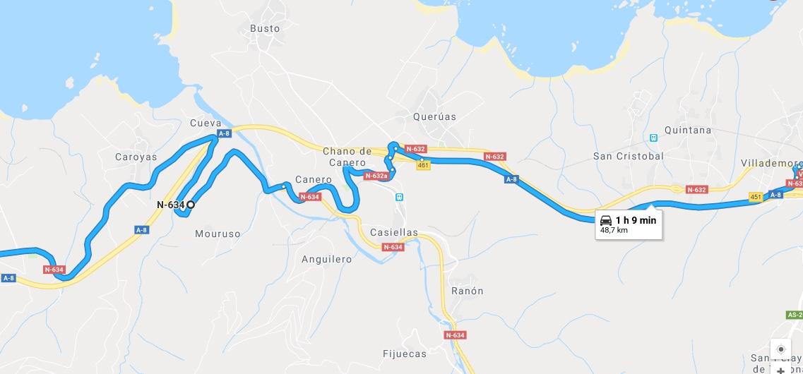 Ruta Princesa, Segundo Sector, 2: Desde Villademoros seguimos y continuamos por la N634.