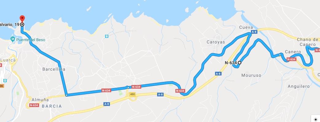 Ruta Princesa, Segundo Sector, 3: Continuamos por la N634 hasta llegar a Luarca.