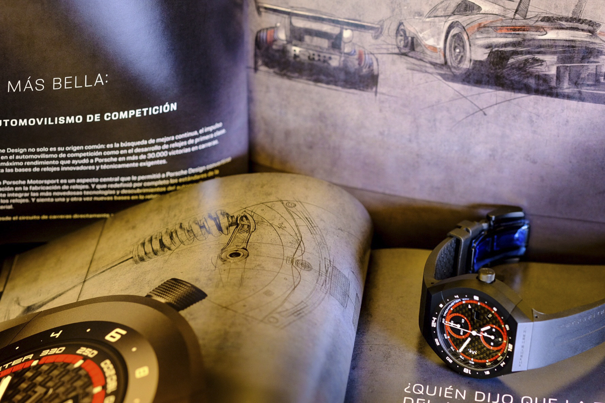 El Porsche Design Monobloc Actuator en su medio natural.