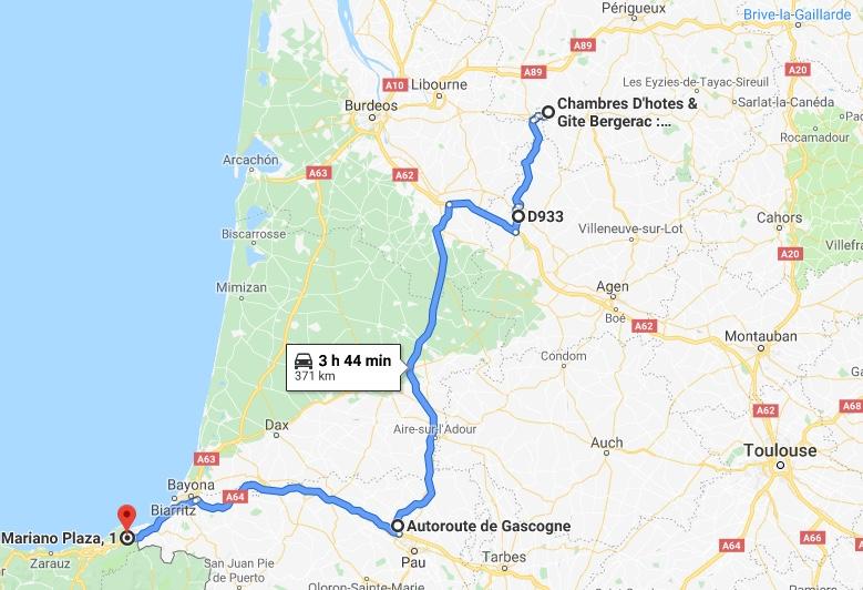 Desde la orilla de la Dordogne hasta Irún.