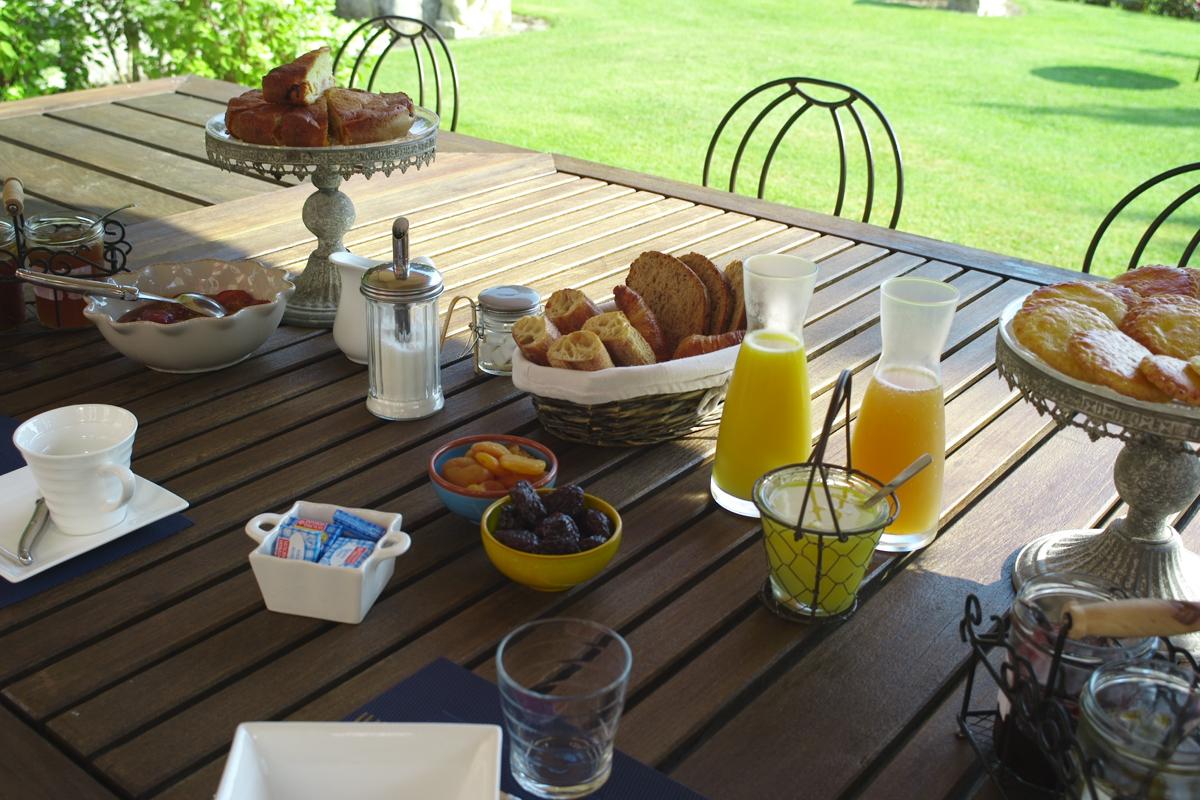 Domaine de grande font: un desayuno perfecto.