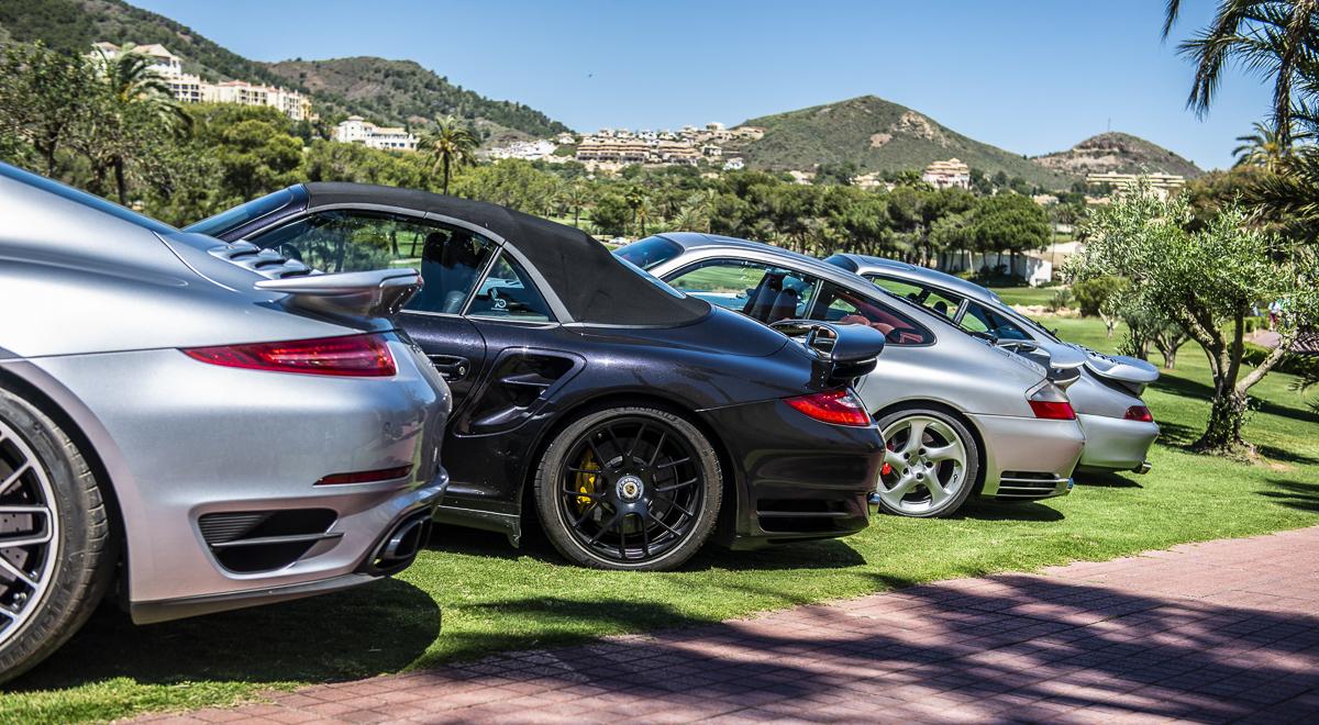 911 Turbo. Cuatro generaciones. Foto cedida por 9OncePlus.