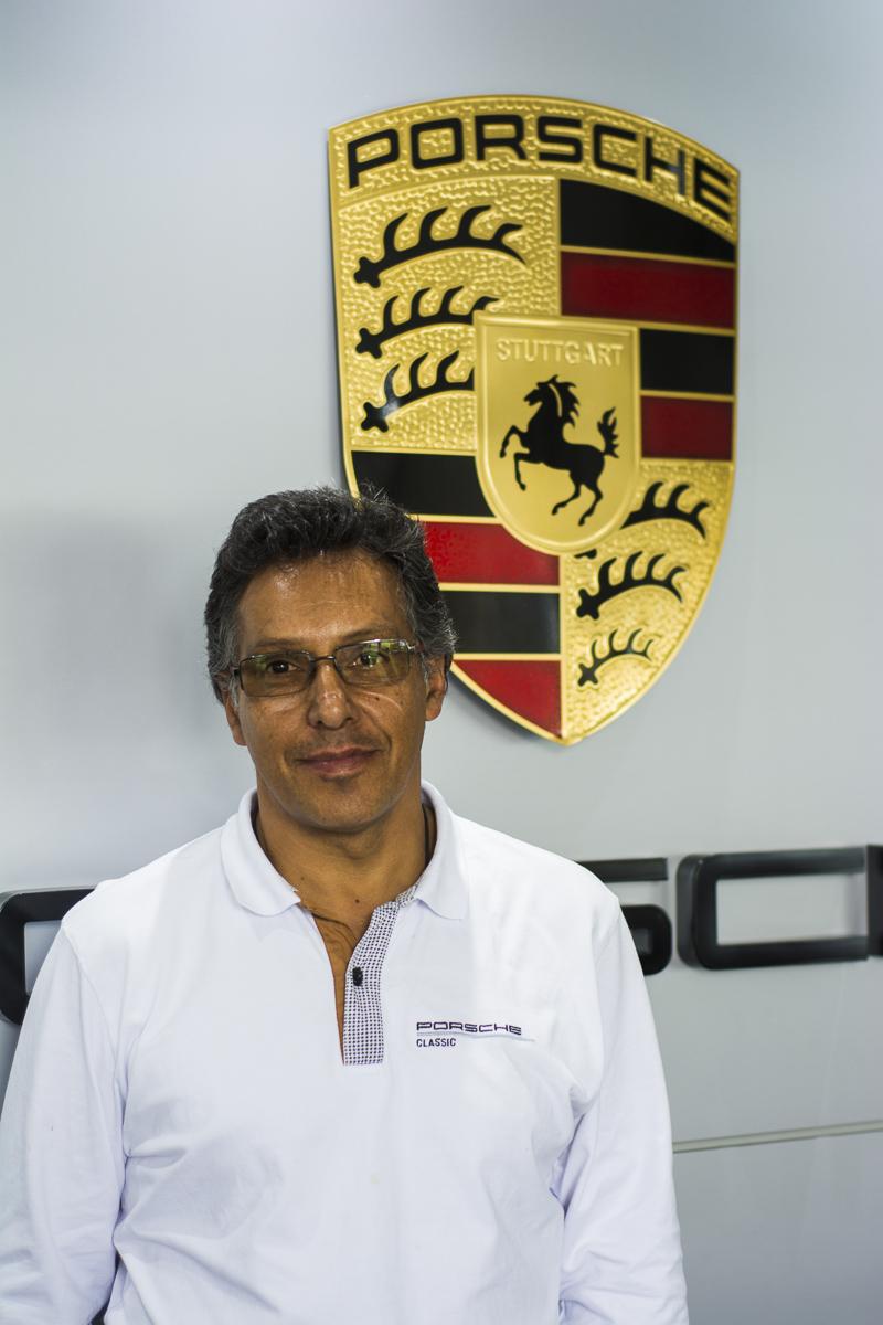 Joaquín Arias, Centro Porsche Bogotá. Foto cedida por 9OncePlus.
